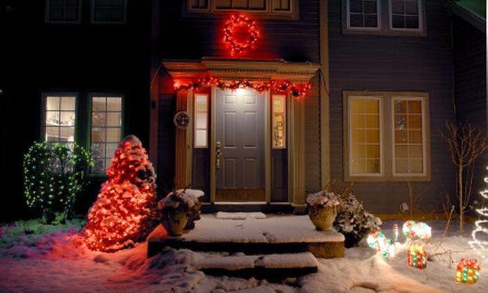 Oklahoma City Christmas Lights - Central Oklahoma City: Holiday-Light Installation from Oklahoma City Christmas Lights (Up to 56% Off). Two Options Available.