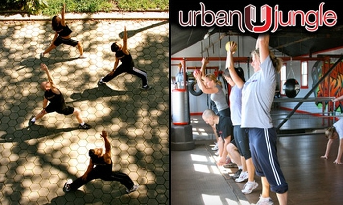 Urban Jungle - Woodside: Boot Camp and Thai Boxing at Urban Jungle. Choose Between Two Options.