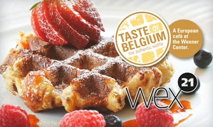 Wexner Center and Taste of Belgium  - University: $10 for $16 Worth of Food at Taste of Belgium Plus Two Admissions to the Wexner Center for the Arts Galleries (Up to $26 Value)