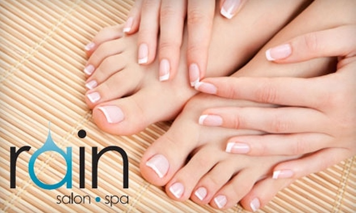 Rain Salon and Spa - Indianapolis: $30 for an Essential Manicure and Pedicure from Rain Salon and Spa in Noblesville ($65 value)