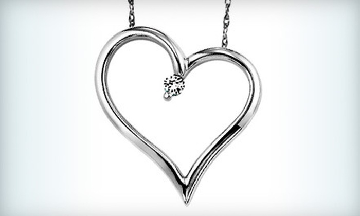 D. Geller & Son Jewelers - Multiple Locations: $29 for a Heart Pendant Necklace with Diamond Accent at D. Geller & Son Jewelers ($89 Value)