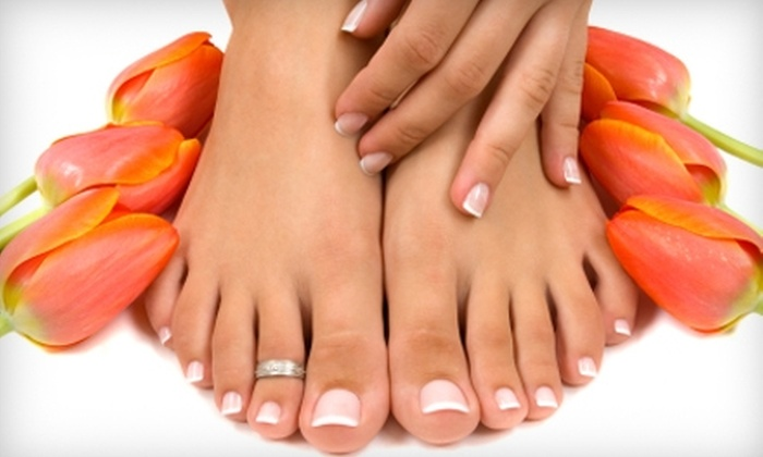 Fancier Nails and Spa - Rockville: $17 for a Basic Mani-Pedi at Fancier Nails and Spa in Rockville ($35 Value)