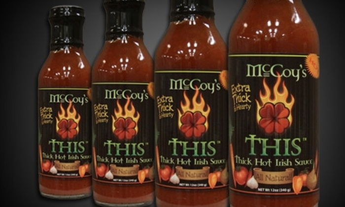 McCoy's Thick Hot Irish Sauce - Multiple Locations: $8 for Two Bottles of McCoy's Thick Hot Irish Sauce at Hot Licks ($15.90 Value). Two Locations Available.