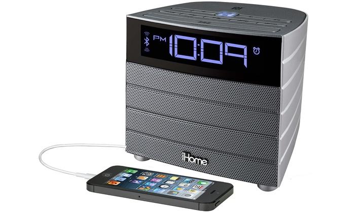 iHome iBN19 Bluetooth Speaker and Alarm Clock with USB Charging Port: iHome iBN19 Bluetooth Speaker and Alarm Clock with USB Charging Port