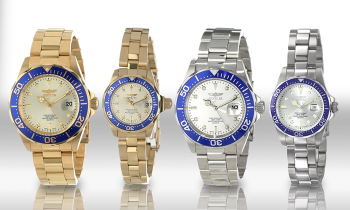 Invicta Pro Diver His-and-Hers Timepiece Sets: Invicta Pro Diver His-and-Hers Timepiece Sets. Multiple Options Available. Free Returns.