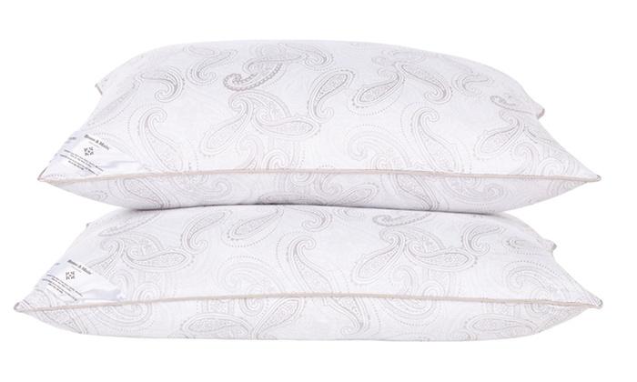 2-Pack of Home & Main Down-Alternative Pillows: 2-Pack of Home & Main Down-Alternative Pillows with Paisley Print