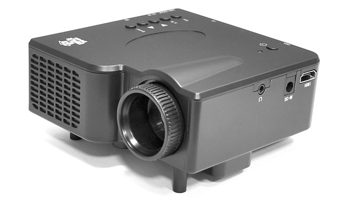 Multimedia mini projector with h groupon goods for Pocket projector deals
