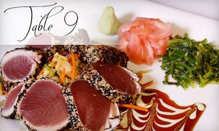 Table 9 Restaurant - East Hills: $25 for $50 of Fine Dining at Table 9 Restaurant