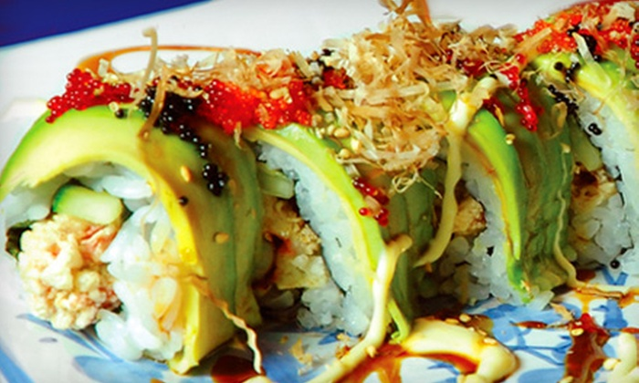 Oishii Sushi - West End: $24 for a Four-Course Sushi Dinner for Two at Oishii Sushi (Up to $53.65 Value)