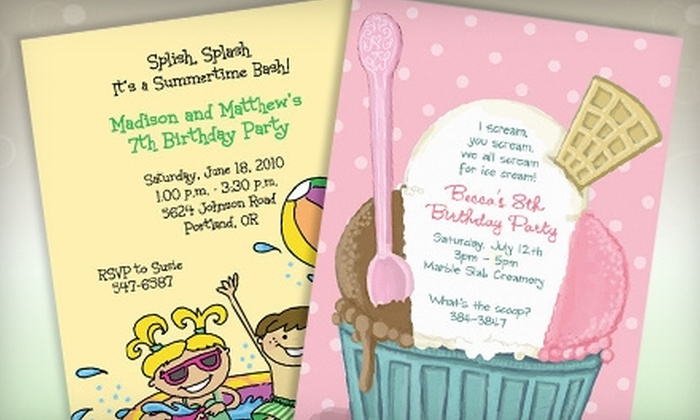Retro Whimsy Designs: $15 for $30 Worth of Custom Stationery and Party Favors from Retro Whimsy Designs