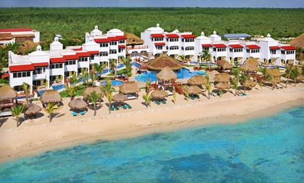groupon daily deal - 3, 4, or 5 Gourmet-Inclusive Nights for Two at Clothing-Optional Hidden Beach Resort in Mexico. Includes Taxes and Fees.