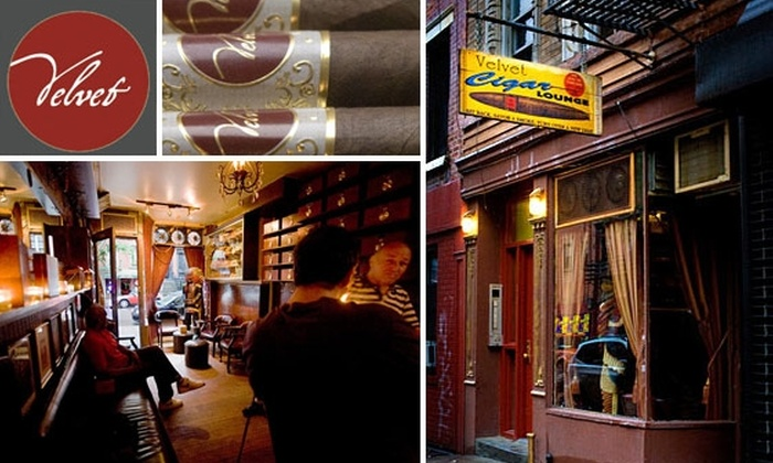Velvet Cigar Lounge - East Village: $20 for $40 Worth Of Cigars at Velvet Cigar Lounge