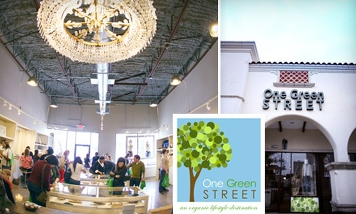 One Green Street - Greenway/ Upper Kirby: $20 for $50 Worth of Organic Goods at One Green Street