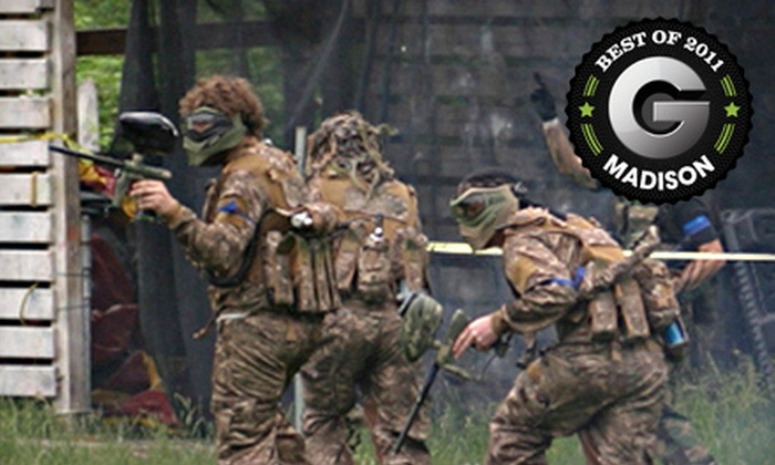 Apocalypse Paintball - Poynette: Paintball Outing for 2, 4, 8, or 10 People at Apocalypse Paintball in Poynette (Up to 60% Off)