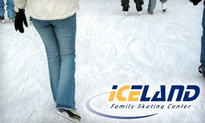 Iceland of Virginia Beach - Northwest Virginia Beach: $8 for Two Ice-Skating Admissions and Skate Rentals at Iceland of Virginia Beach (Up to $16 Value)