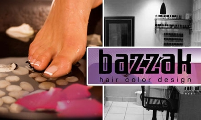 Bazzak Hair Color Design - Old Town: $29 Mani-Pedi at Bazzak Hair Color Design ($65 Value)