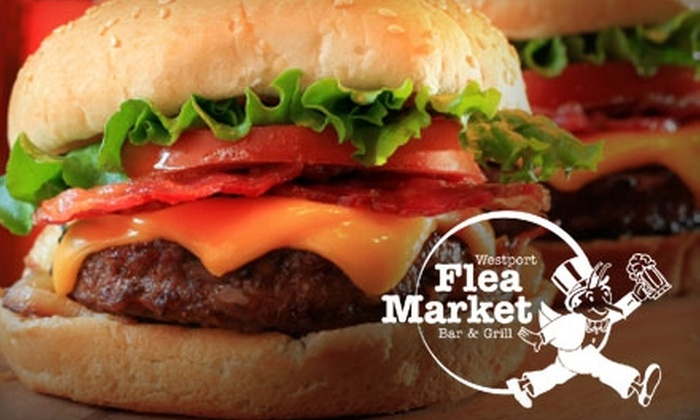 Westport Flea Market - Old Westport: $15 for $30 Worth of Pub Fare and Drinks at the Westport Flea Market