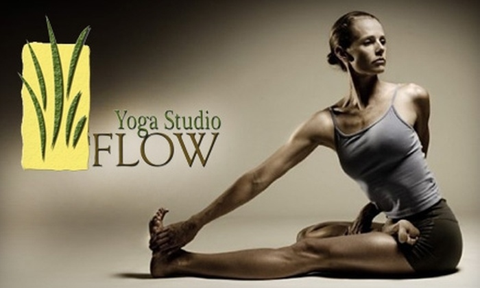Flow Yoga Studio - Tracy: $50 for 10 Drop-In Classes at Flow Yoga Studio (Up to $110 Value) in Tracy