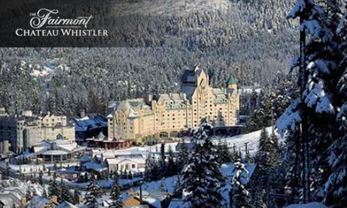 The Fairmont Chateau Whistler - Whistler: $299 for One-Night Stay and Three-Course Classic Fondue Dinner for Two at The Fairmont Chateau Whistler (Up to $600 Value)