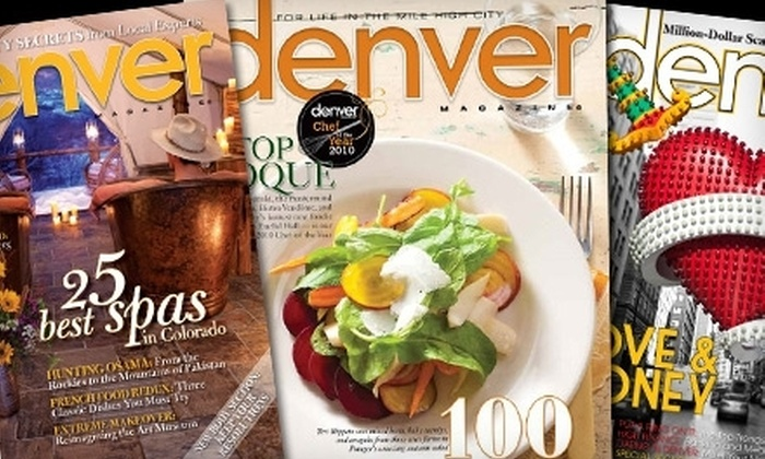 Denver Magazine: $6 for One-Year Subscription to Denver Magazine ($29.99 Value)