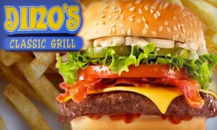 Dino's Classic Grill - Dorchester: $5 for $10 Worth of Burgers, Wings, and More at Dino's Classic Grill