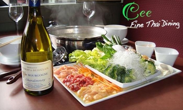 Cee Fine Thai Dining - Fairfax: $15 for $30 Worth of Cuisine and Drinks at Cee Fine Thai Dining in Fairfax