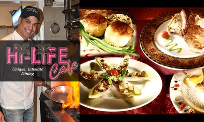 Hi-Life Café - Coral Ridge: $20 for $45 Worth of New American Fare and Drinks at Hi-Life Café in Fort Lauderdale