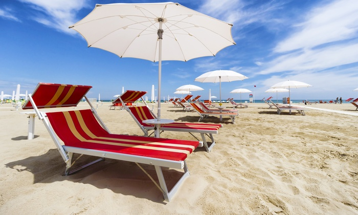 Beach Concierge Group - Charleston: Two or Four Rented Beach Chairs with Umbrellas from Beach Concierge Group (Up to 55% Off)