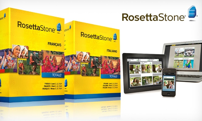 Rosetta Stone Level 1–4 Set: Rosetta Stone French, Italian, or Spanish Level 1–4 Set. Free Shipping.