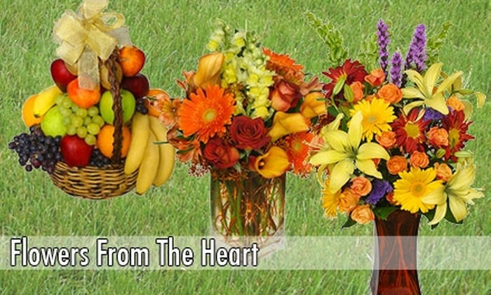 Flowers From The Heart - Highland Park: $15 for $30 Worth of Floral Arrangements, Plants, and Gift Baskets at Flowers from the Heart