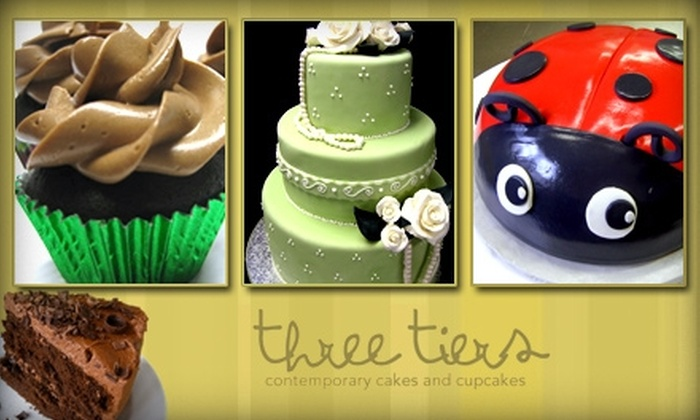 Three Tier Contemporary Cakes and Cupcakes - Bellevue: $5 for $10 Worth of Baked Goods at Three Tiers
