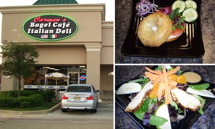 Carmen's Bagel Cafe & Italian Deli - Richardson: $10 for $20 Worth of New York-Style Bagels and More at Carmen's Bagel Cafe & Italian Deli