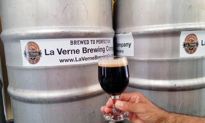 La Verne Brewing Company - La Verne: Craft Beers and Souvenir Glasses for Two or Four at La Verne Brewing Company (Up to 42% Off)