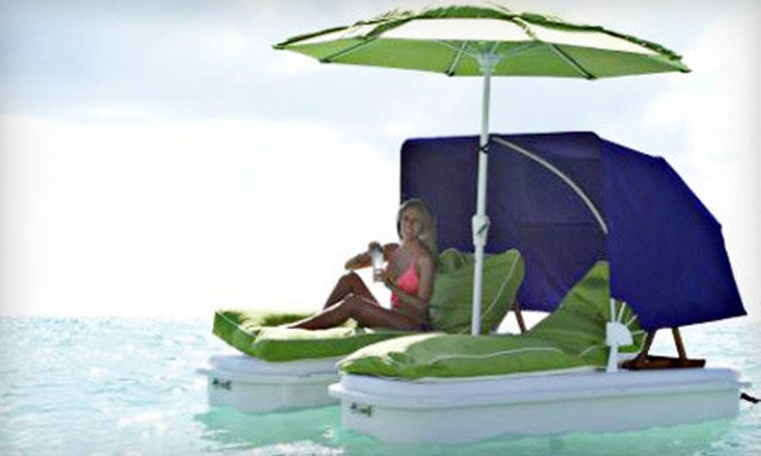 SeaDuction Floats - North Biscayne Beach: $45 for Half-Day Rental of a Shaded Two-Person Water Float from SeaDuction Floats ($100 Value)