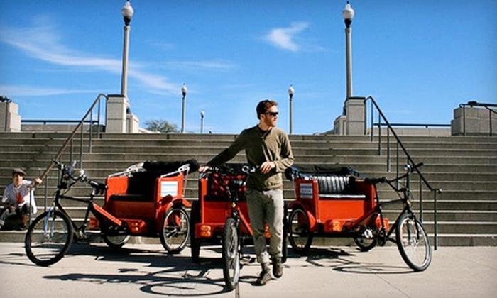 Chicago Rickshaw - Logan Square: $37 for a One-Hour Rickshaw Ride from Chicago Rickshaw ($75 Value)