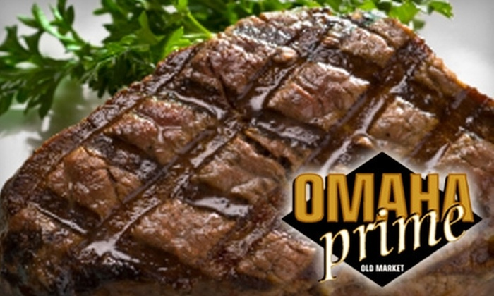 Omaha Prime - Omaha: $20 for $40 Worth of Steaks and Wine at Omaha Prime
