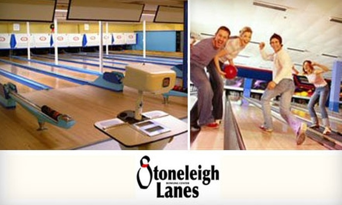 Stoneleigh Lanes - Towson: $22 for One Hour of Unlimited Bowling, a Pizza, and Shoe Rental for Four at Stoneleigh Lanes