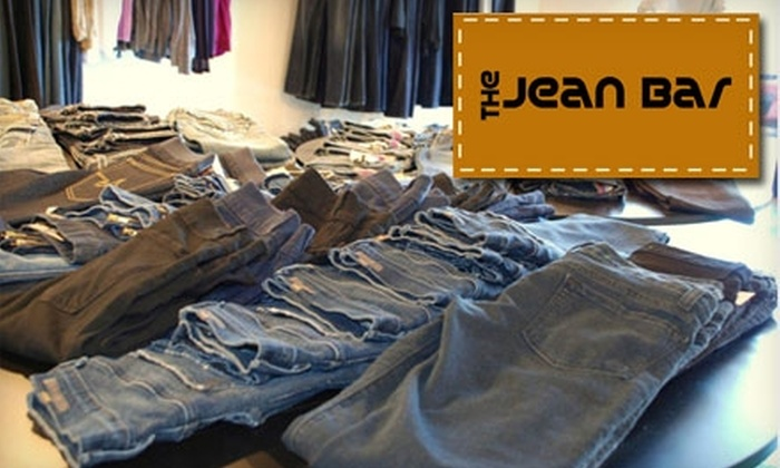The Jean Bar - Far North Central: $45 for $100 Worth of Designer Denim at The Jean Bar