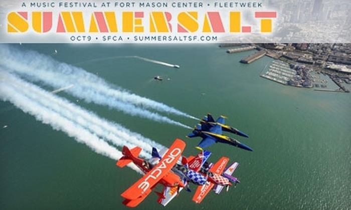 Summersalt Music Festival - Marina: $20 for Two General Admission Tickets to Summersalt Music Festival ($43.36 Value)