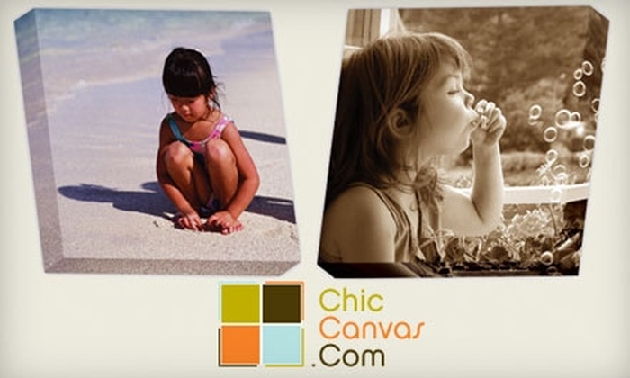ChicCanvas.com : $69 for a Personalized Canvas Photo Art Print from ChicCanvas.com (Up to $147.95 Value)