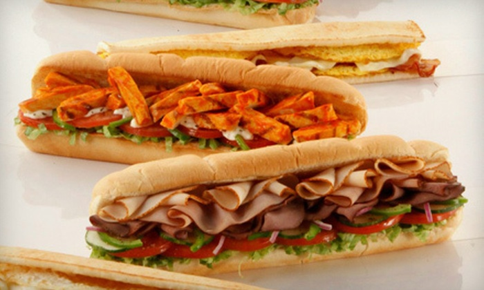 Subway - Multiple Locations: $12 for a Deli Meal with Subs, Chips, and Drinks for Two at Subway (Up to $24.40 Value)