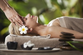 Massage by Kacy at The Little Spa: 60-Minute Hot Stone Massage and Facial from Massage by Kacy (50% Off)