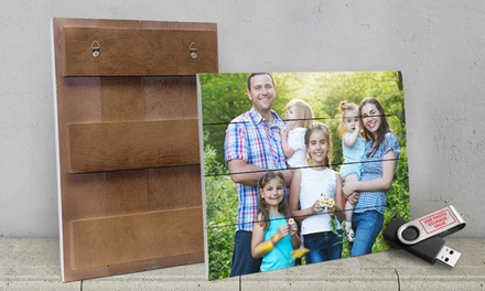 Custom Photo Print on Planked Wood with Free 8 GB USB Photo Drive from ImageCom.com