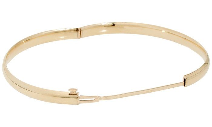 14k Solid Gold Bangle Bracelet