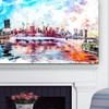 Gallery-Wrapped Cityscape Canvas Art