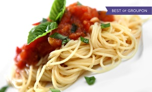 Mangia Ristorante Pizzeria: Italian Cuisine at Mangia Ristorante Pizzeria (Up to 52% Off). Two Options Available.