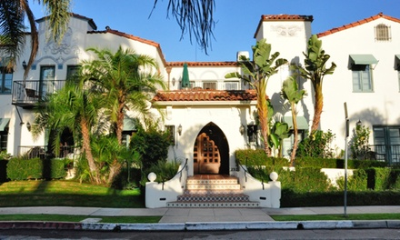 groupon daily deal - 1-Night Stay for Two with Optional Romance Package at Eagle Inn Hotels in Santa Barbara, CA. Combine Up to 2 Nights.