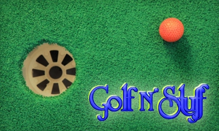 Golf N' Stuff - Ward 2: $14 for 18 Holes of Mini Golf and a Ride Attraction for Two at Golf N' Stuff