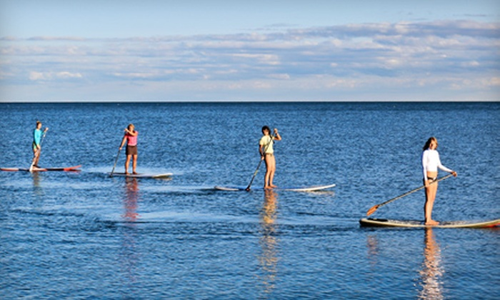 SUPGirlz - The Beaches: $39 for a 90-Minute Introductory Stand-Up Paddleboarding Lesson from SUPGirlz