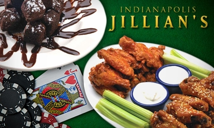 Jillian's Indianapolis  - Downtown Indianapolis: $59 for Four Game Cards and a Group Meal at Jillian's Indianapolis ($159 Value)